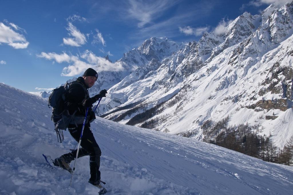Berto et le Mont Blanc
