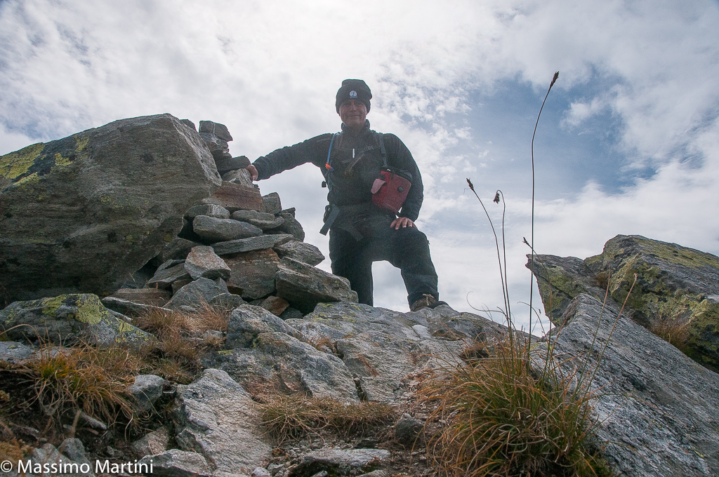 In cima alla Punta Lazouney